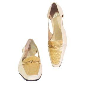 Balenciaga rare vintage cream yellow heels
