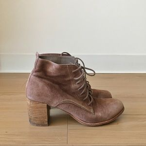 Dolce Vita lace up suede booties