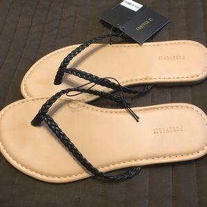 NWT braided flip flops