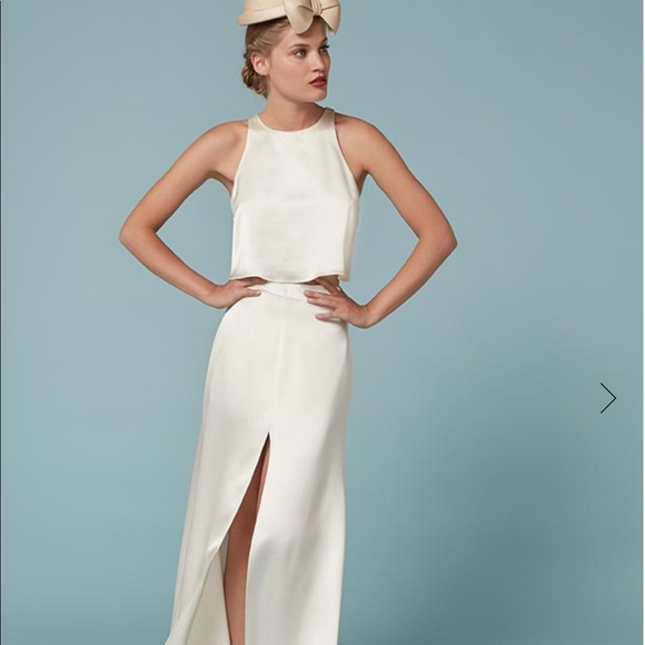 Reformation Dresses | Gemini Two Piece Wedding Dress | Poshmark