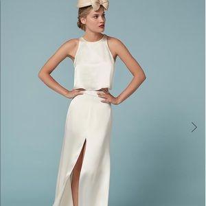 Gemini two piece wedding dress