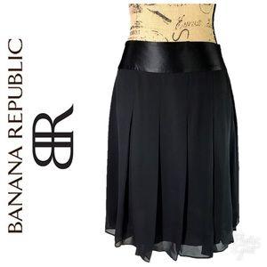 Banana Republic Silk Chiffon Skirt