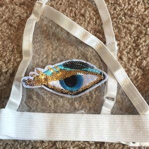 ad707b811df10f Tops - Sequin evil eye bralette rave bra top festival