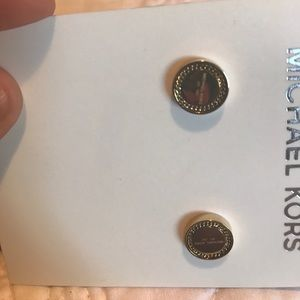 Michael Kors logo plaque stud earrings