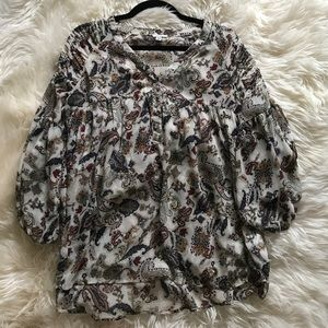 Floral loose/oversized paisley printed blouse