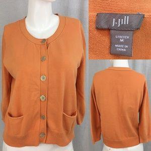 🎒Sz Medium J. Jill Button Down Cardigan Sweater