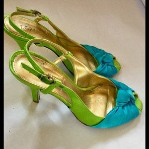 J. CREW Satin Peep Toe Heels Made In Italy Size 7