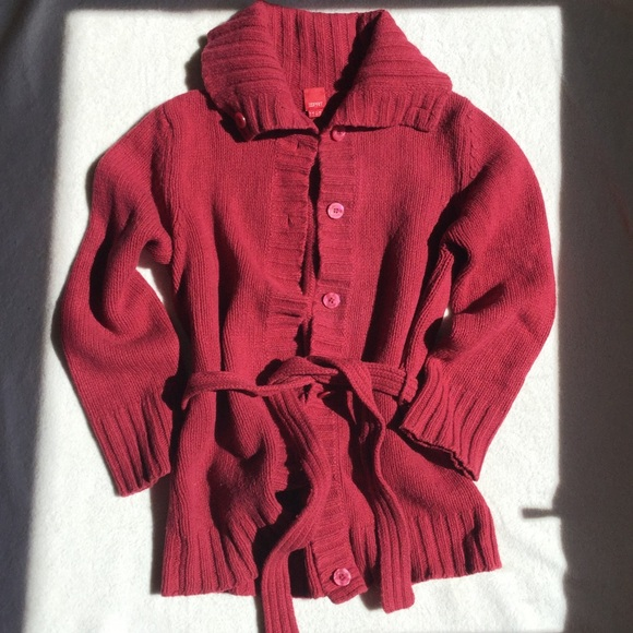 a18f5dcf3b Esprit Jackets   Blazers - Esprit red wool jacket-sweater with belt