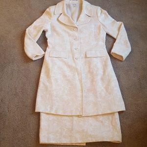 Cream Parisian Jacket and Skirt Set