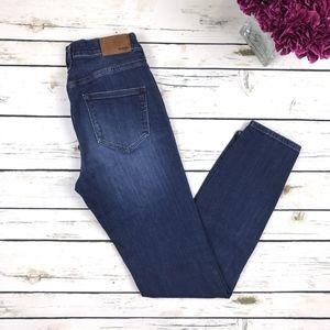 Madewell Blue High Rise Skinny Jeans