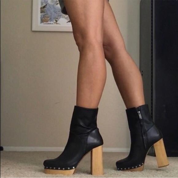 Zara Shoes | Zara Black Leather