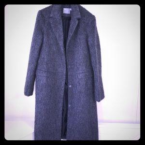 Asos Long Gray Mohair Sweater/Coat