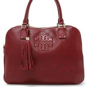 Brand New Tory Burch Dark Cherry Thea satchel