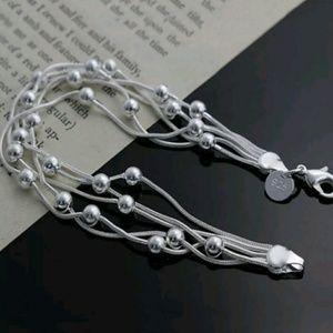 Jewelry - Gorgeous .925 Sterling Silver Multi Chain Bracelet