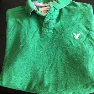 Green American Eagle polo shirt