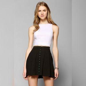 Black button down mini skirt