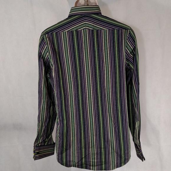 Express express dress shirt modern fit men size s 14 14 for Modern fit dress shirt