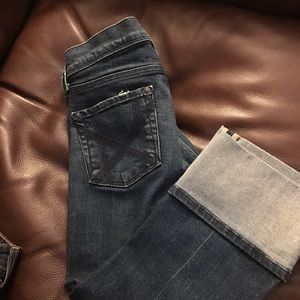 7  For All ManKind Cropped Jeans