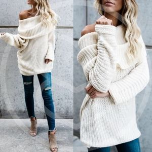 SYDNEY sweater top - CREAM
