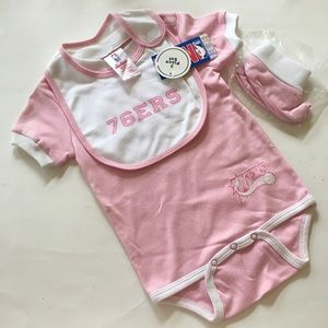NEW PHILADELPHIA 76ers basketball baby girl onesie