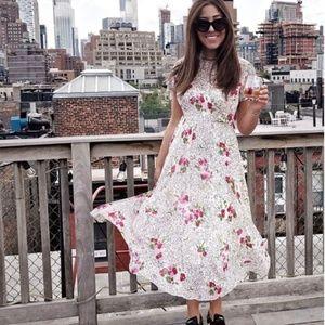 Zara blush star print dress