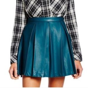 French Connection Emerald Green Faux leather Skirt