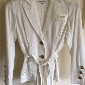 DVF white light weight blazer jacket.