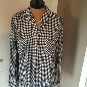 Merona Black & White Flannel Tunic NWT