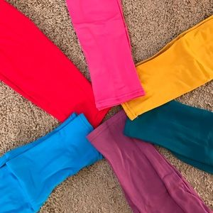 Pants - Yellow fleece leggings