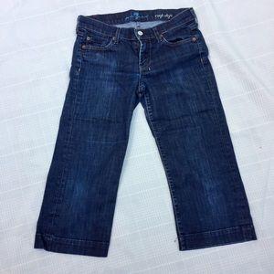 7 For All Mankind crop dojo Capri jeans