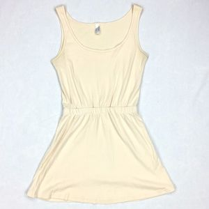 American Apparel Baby Rib Mini Shift Tank Dress