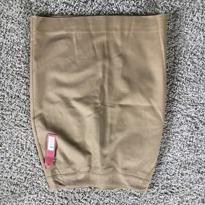 Tan merona pencil skirt