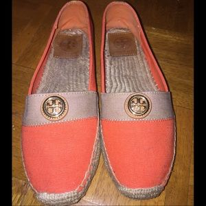 Tory Burch Beacher Flat Espadrille in Poppy Red