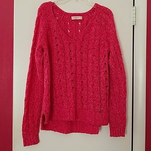 Abercrombie & Finch Women's Pink Cable Knit Sweate