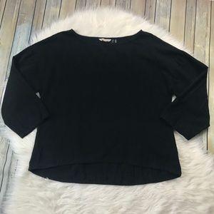 [Soft Surroundings] Black Cotton Blouse
