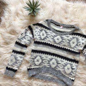 Xhilaration: Soft & Cozy Fuzzy Neutral Sweater