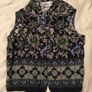 Tops - ⭐️5/$25 ⭐️Navy Blue sleeveless Paisley top