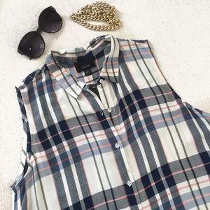 Lumiere Plaid Sleeveless Tunic