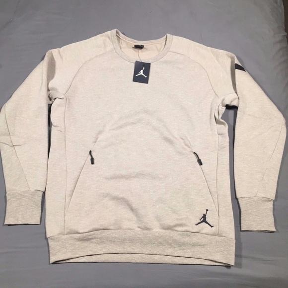 2c02048e121345 Air Jordan Icon Fleece Crew Sweatshirt 802181 235