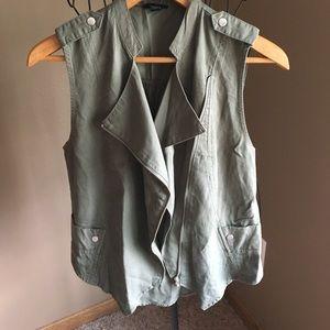 Olive green vest!