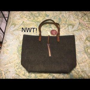Handbags - Braided bohemian tote gray