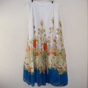 Spirit by Coldwater Creek Silk Lined Midi Skirt