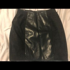 H&M above knee pleather suedette skirt