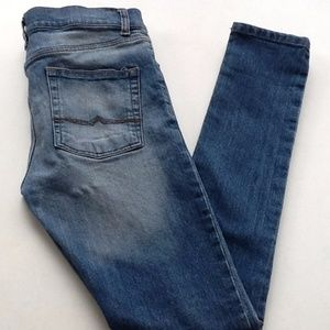 Asos Size 30 Distressed Button Fly Jeans
