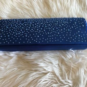 Handbags - Cobalt Blue Clutch