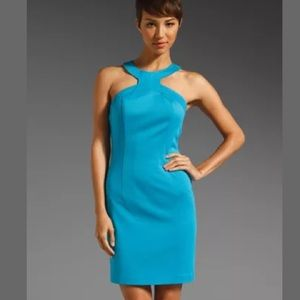 Trina Turk Orissa Kashmir Turquoise Mini Dress