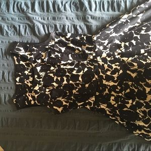 Talbots black and white floral dress