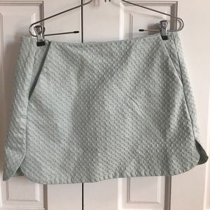 Topshop Mint Patterned Mini Skirt