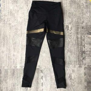 ONZIE black metallic Moto legging