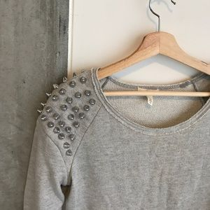 Sweater with spikes